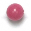 Semi-Precious 6mm Round Fuchsia Candy Jade